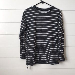 Black with white stripes sweater
